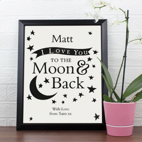 Personalised To the Moon and Back Poster Frame